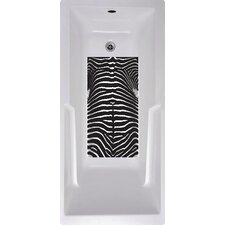 Zebra Bath Tub and Shower Mat