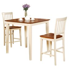 Vernon 3 Piece Counter Height Dining Set