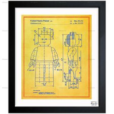 Oliver Gal Lego Toy Figure 1979 Framed Graphic Art in Colorful