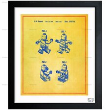Oliver Gal Lego Toy Figure #2 1979 Framed Graphic Art in Colorful