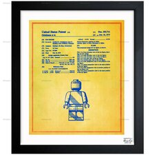 Oliver Gal Lego Toy Figure #3 1979 Framed Graphic Art in Colorful