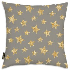 Easel Gold Stars Pattern Polyester Throw Pillow