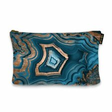 """9"""" H x 13"""" W Dreaming About You Geode Jewelry Pouch"""