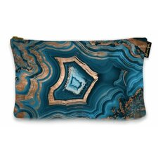 """6"""" H x 9"""" W Dreaming About You Geode Jewelry Pouch"""