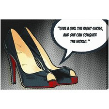 Oliver Gal The Right Shoes Graphic Art on Canvas