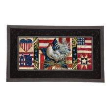 Sassafras American Folk Rooster Switch Doormat