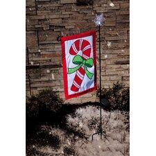 Snowflake Solar Flagpole Light