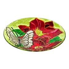 Amaryllis and Butterfly Bird Bath