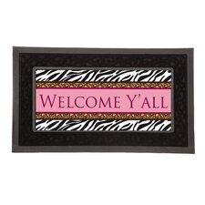 Sassafras Welcome Y'All Decorative Insert Doormat