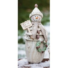 Holiday Frosty Snowman Christmas Decoration