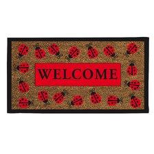 Lady Bug Welcome Doormat