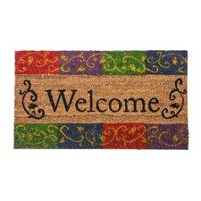 Welcome Flourish Coir Doormat