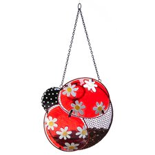 Dots and Blossoms Inspirational Ladybug Bird Feeder