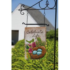 Celebrate Life Design Post Garden Sign