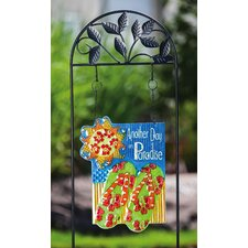 Calypso Another Day in Paradise Design Post Garden Sign
