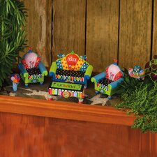 Quirky Garden Furniture Statue (Set of 5)