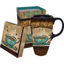 17 oz. Coffee Boxed Ceramic Latte Travel Cup