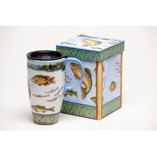 Fish in Lake Latte Travel Cup