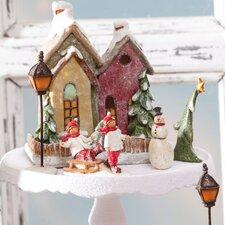 Holiday Village Cottage Centerpiece
