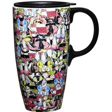 17 oz. Shoes Gone Wild Ceramic Latte Travel Cup with Lid
