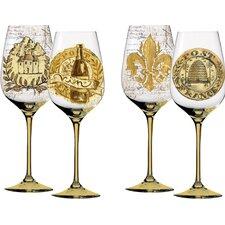 Elegant Farmhouse 2 Piece Wine Glass Set