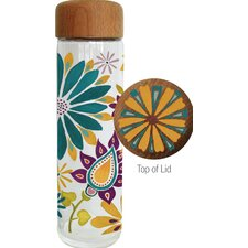 Lovely Season Glass Water Bottle with Wood Lid