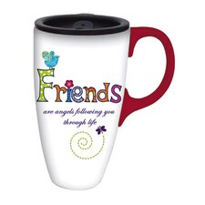 Friends are Angels Latte Travel Cup