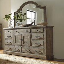 Meadow 9 Drawer Dresser with Mirror