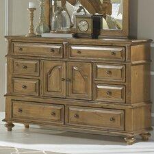 Surrey Bay 8 Drawer Combo Dresser with Mirror