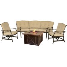 Traditions 4 Piece Rocker Seating Group with Cushions