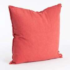 Graciella Fringed Design Linen Throw Pillow