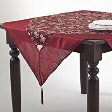 Crewel Work Embroidered Table Topper