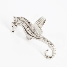 Sea Horse Design Napkin Rings (Set of 4)