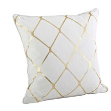 Greta Metallic Diamond Cotton Throw Pillow