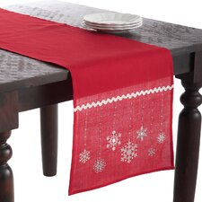 Snowflake Embroidered Runner