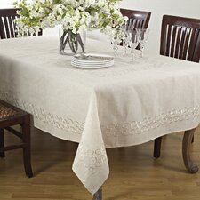 Embroidered Scroll Design Tablecloth