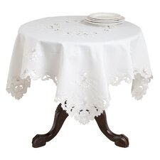 Acacia Rose Embroidered and Cutwork Tablecloth