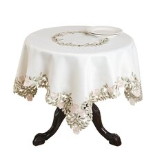 Monique Embroidered and Cutwork Floral Tablecloth