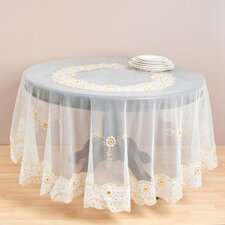 Embroidered and Beaded Table Cloth