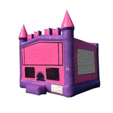 Commercial Grade Princess Inflatable Bounce House with Bricks and 4 Pillars