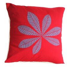 Geometric Leaf Cotton Throw Pillow