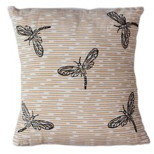 Dragonflies Cotton Throw Pillow
