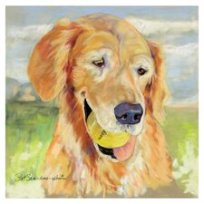 'Gus' by Pat Saunders-White Painting Print on Canvas