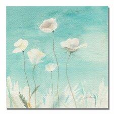 """White Poppies"" by Sheila Golden Painting Print on Canvas"
