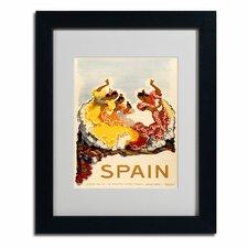 """Spain - Women Dancing"" Matted Framed Vintage Advertisement"