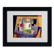 """""""Composition on a Table 1916"""" by Juan Gris Matted Framed Painting Print"""