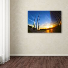 """""""Air Force Memorial 15"""" by CATeyes Photographic Print on Wrapped Canvas"""