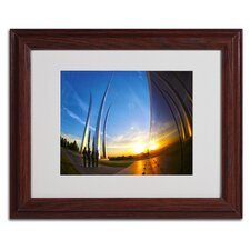 """""""Air Force Memorial 15"""" by CATeyes Matted Framed Photographic Print"""