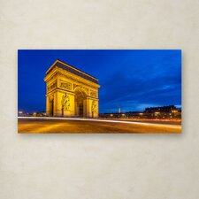 """""""Arc de Triomphe"""" by Mathieu Rivrin Photographic Print on Wrapped Canvas"""
