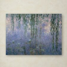 """Water Lilies III 1840-1926"" by Claude Monet Painting Print on Wrapped Canvas"